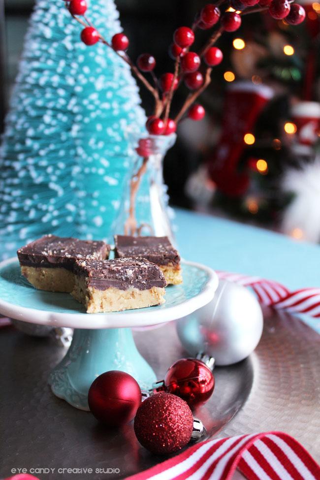 mini cake stand, christmas decor, christmas tree, holiday dessert recipe