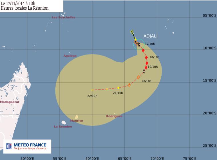 Adjali devient une forte tempête tropicale