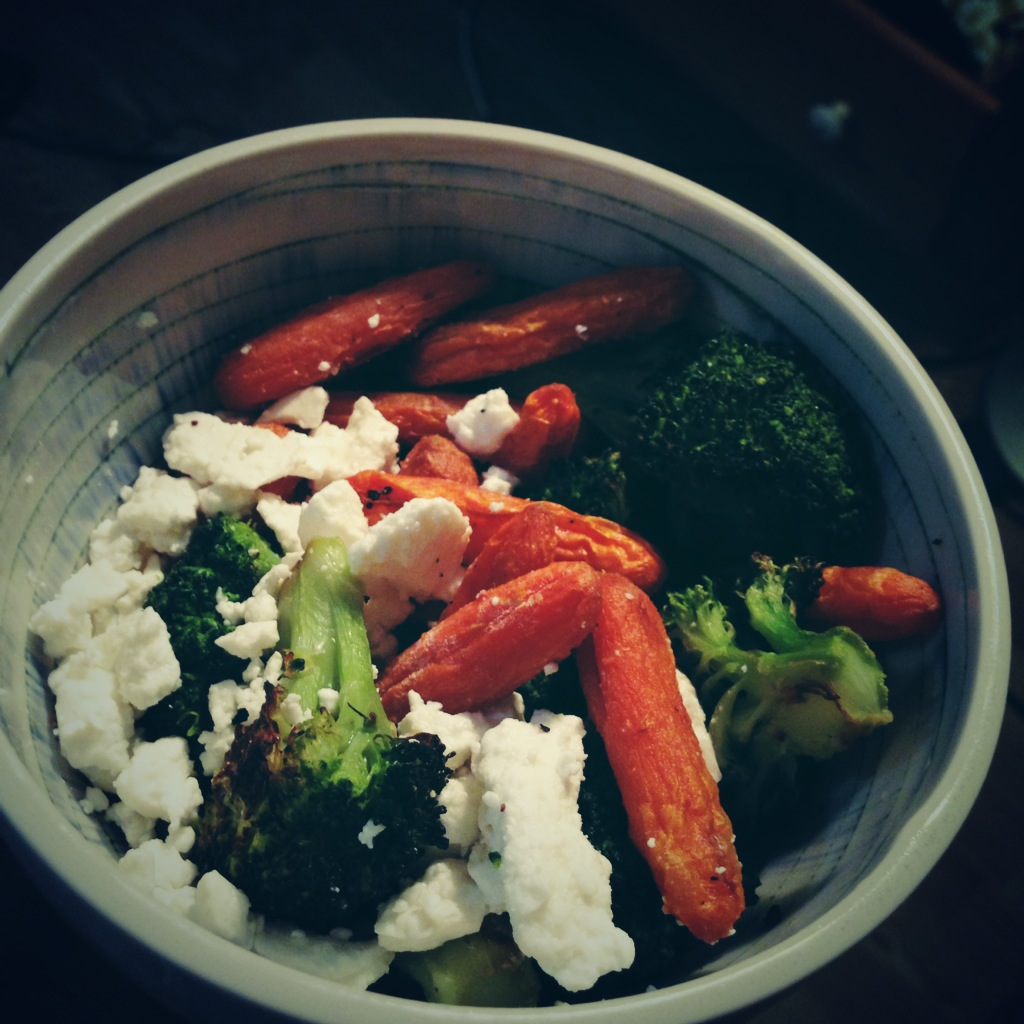 Roasted Vegetables and Feta Cheese