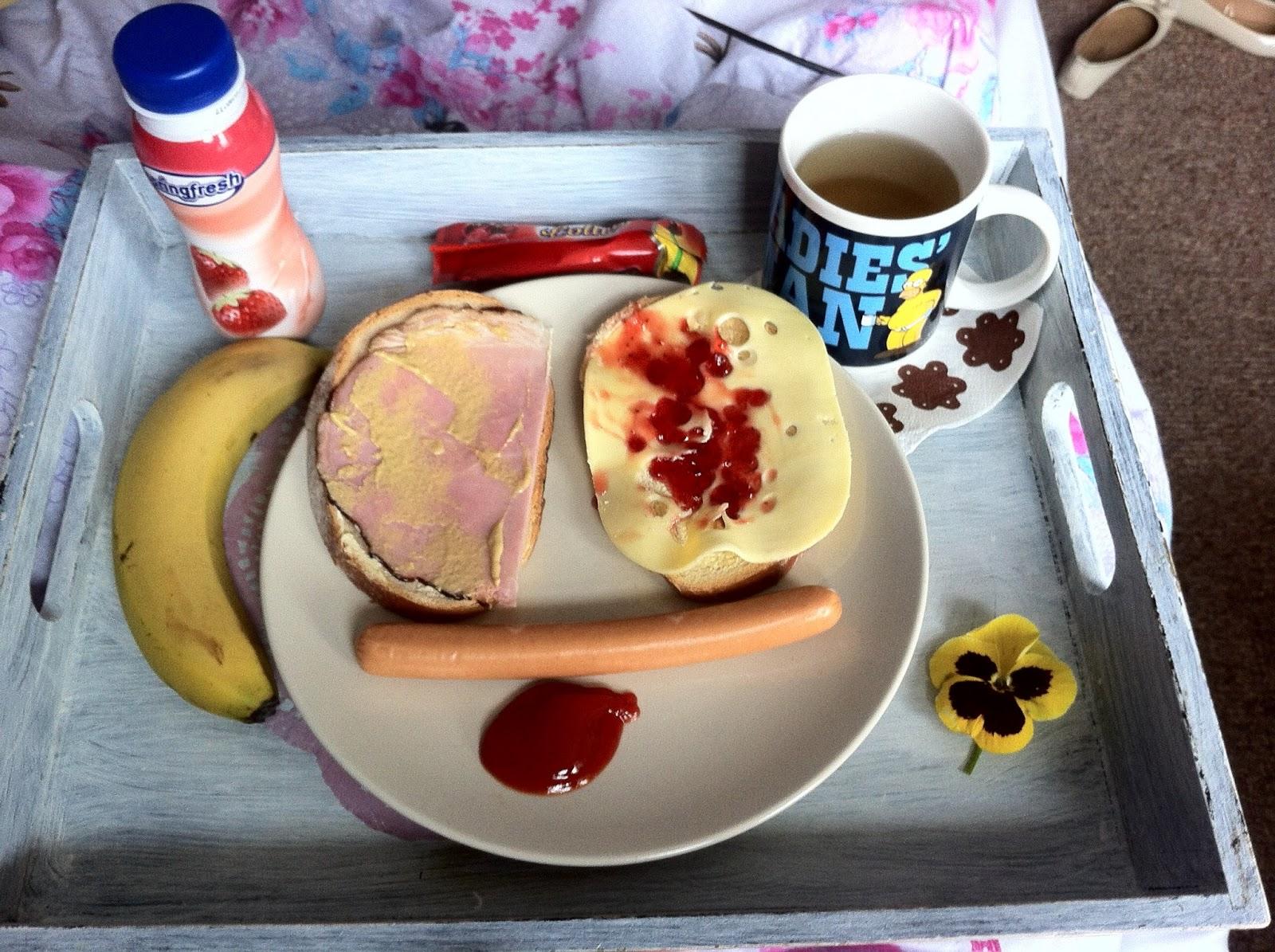 taca śniadaniowa ozdobna decoupage