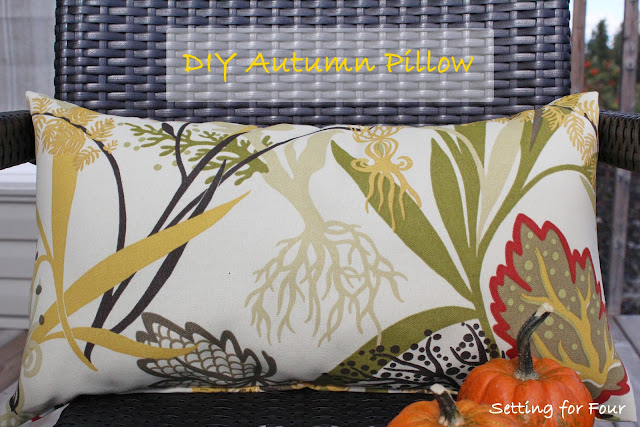 DIY Autumn Pillow from Setting for Four