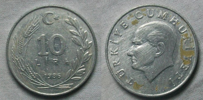 turkey 10 lira 1985