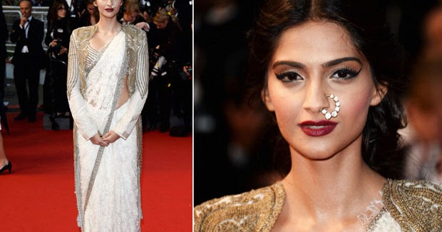 celebrity makeup sonam kapoor at cannes 2013 the great