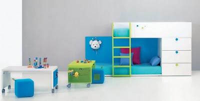 dormitorios modernos niños colores