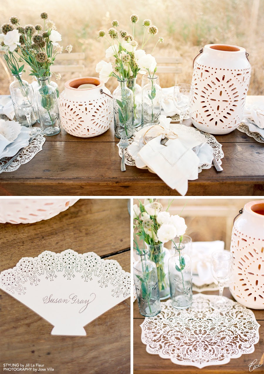 I pictured a naturally beautiful setting for a casual-yet-elegant lunch or dinner with friends. & Wedding Swoon: Ceci New York~ - Simply by Tamara Nicole