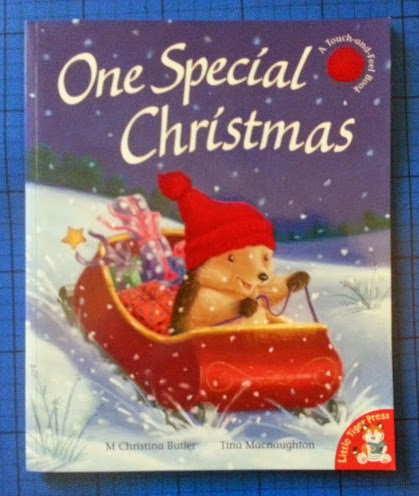 One Special Christmas children's story book with touch and feel flocked print review