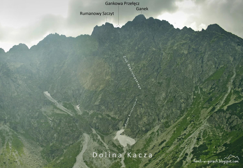Widok na Gankową Przełęcz