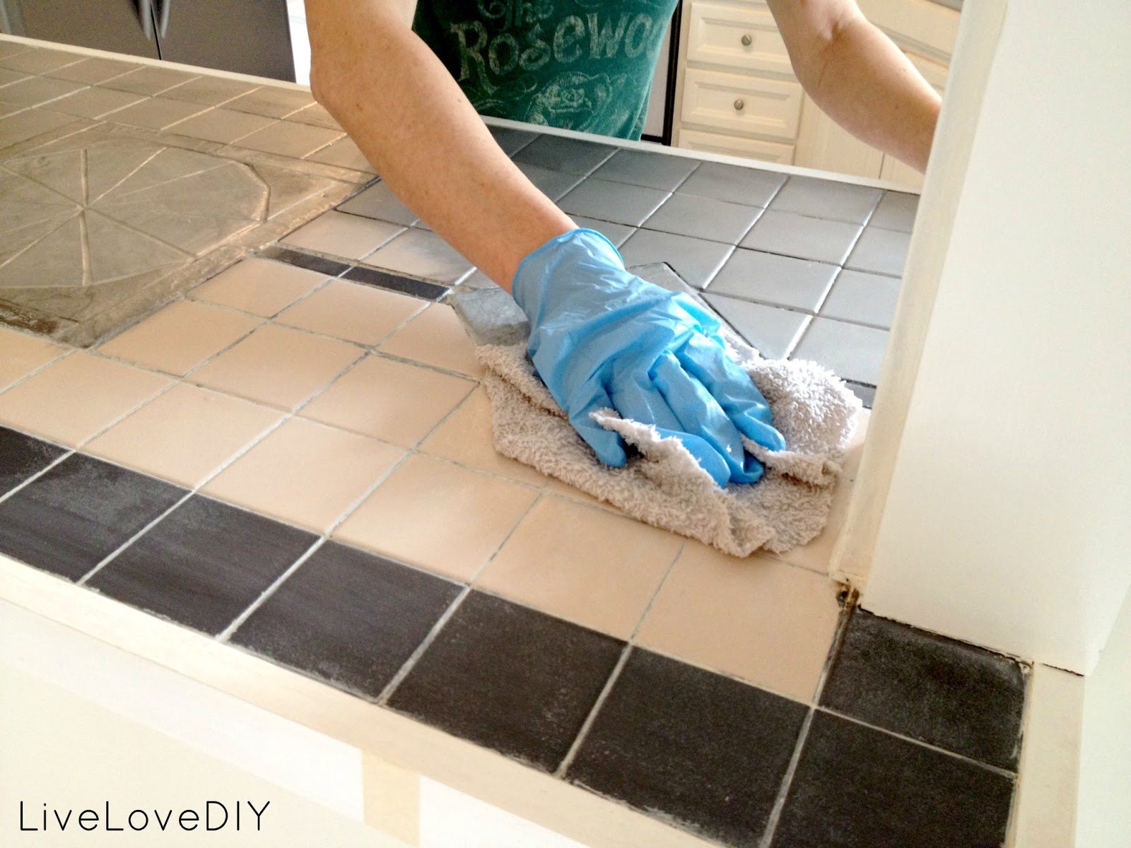 Livelovediy how to paint tile countertops dailygadgetfo Image collections