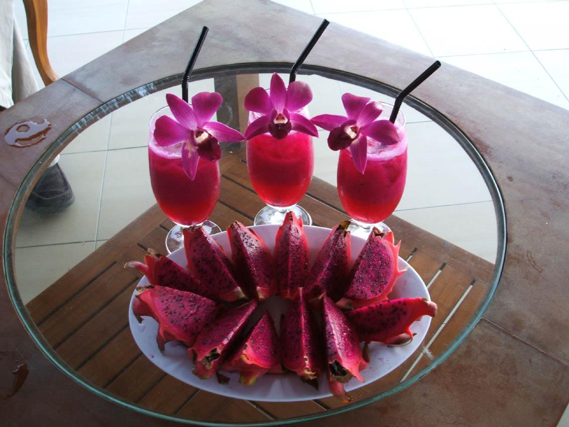 dragon fruit plant simple fruit salad