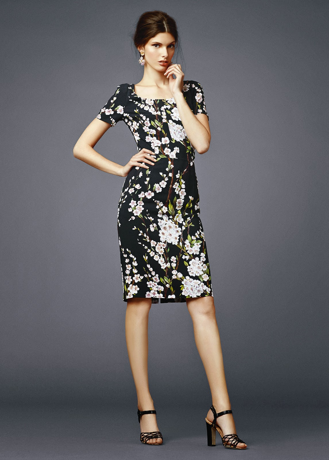 dolce gabbana 2014 fashion collection evening dress