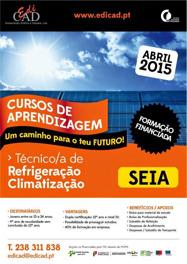 Curso de aprendizagem de refrigeração e climatização – Seia 2015 (Dupla Certificação)