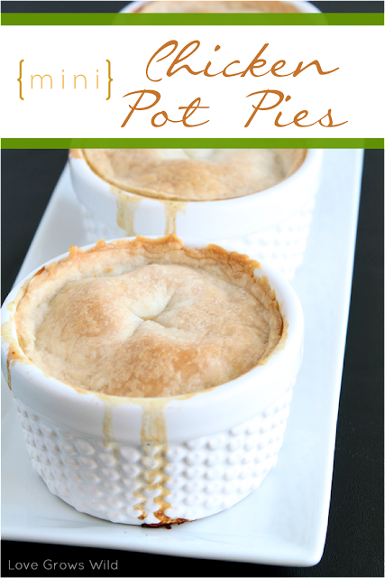 Mini Chicken Pot Pies from Love Grows Wild www.lovegrowswild.com #recipe #dinner #meal