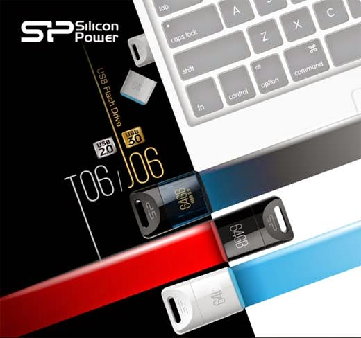 Silicon Power - USB 2.0 Touch T06 and USB 3.0 Jewel J06