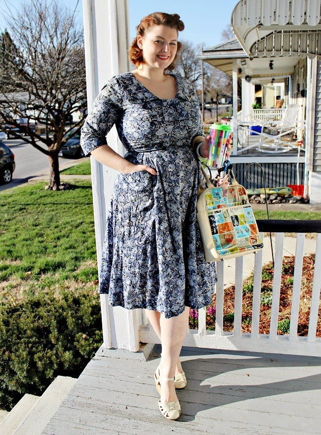 1950s plus size vintage day dress