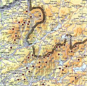 Lista das montanhas do Parque Nacional Peneda Gerês...