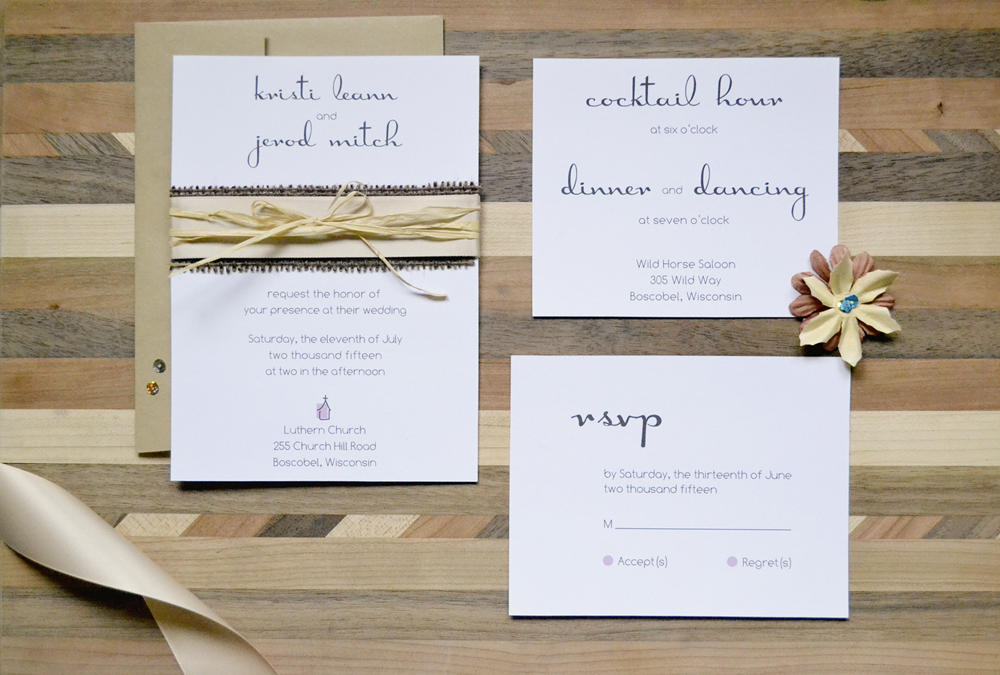 designing an artful life: DIY Wedding Invite: Belly Band