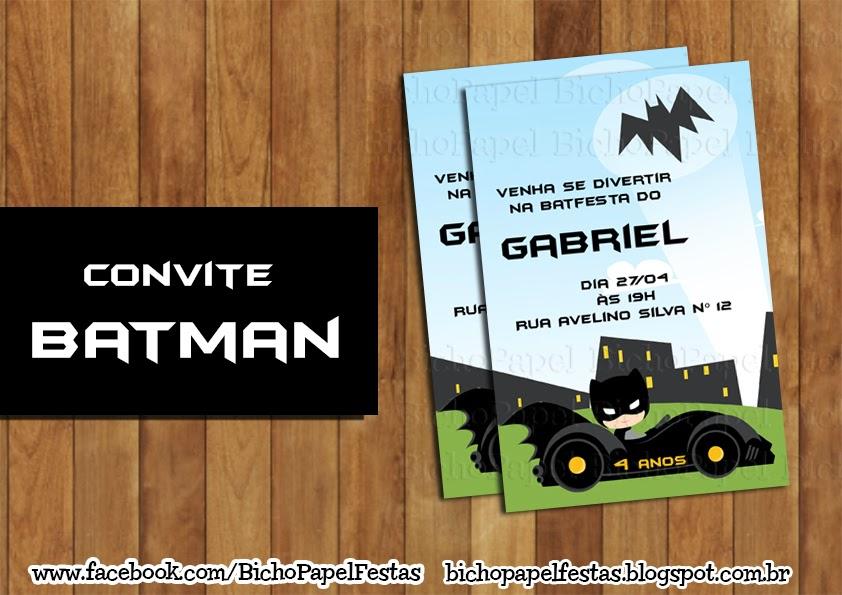 Arte Convite Batman