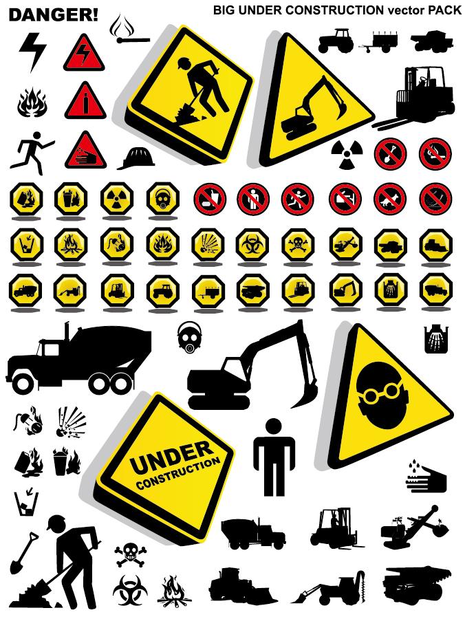 建築現場の注意標識アイコン construction please note that security icon イラスト素材