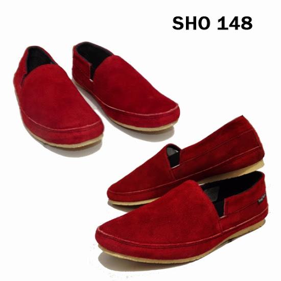 Jual Sepatu Merah Murah Meriah Pria – SHO 148