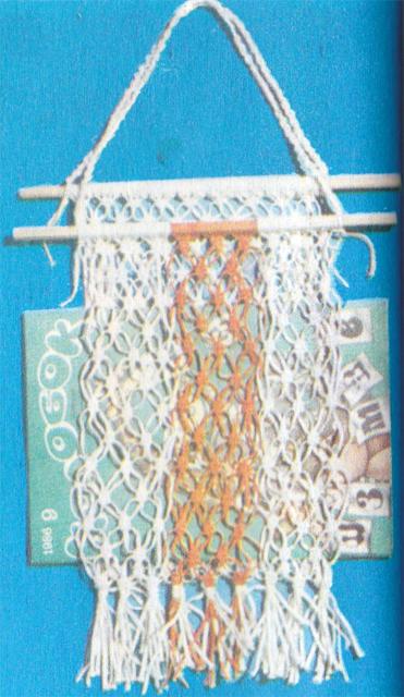 Методика и схема плетения кармана для газет на стену.