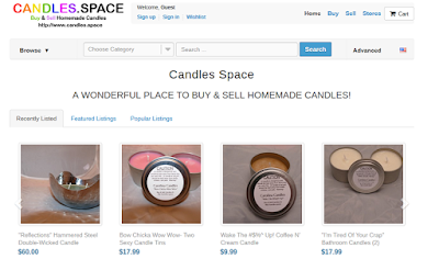Candles.Space: Buy & Sell Handmade Candles!