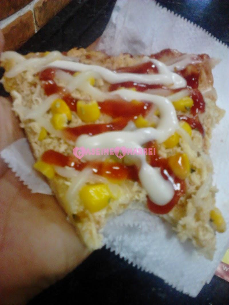 Fatia Mordida Pizza de Frango com Catupiry e Portuguesa Du'Cheff