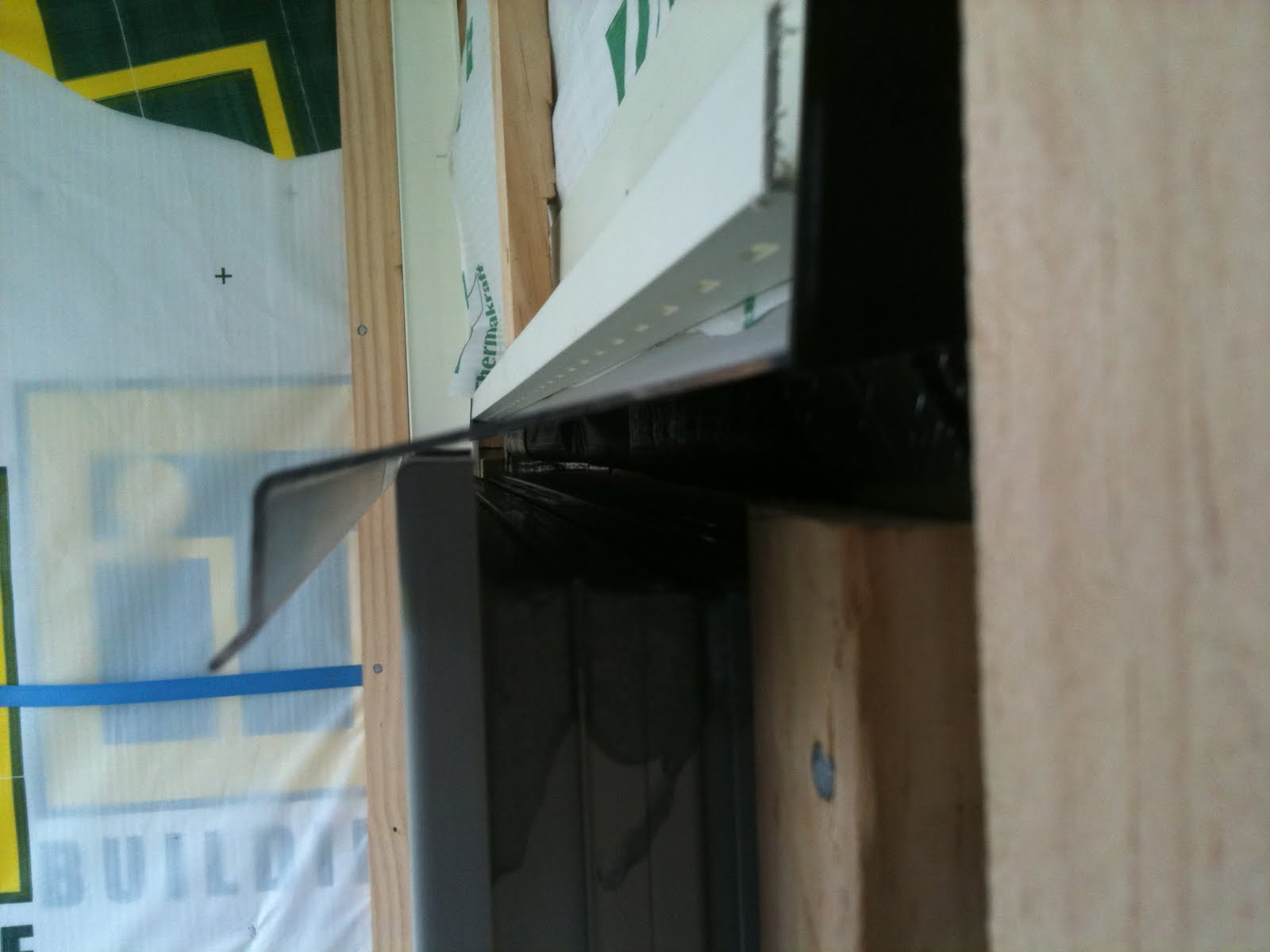 Once the space was cleared correctly the flashing could be fixed to the wall. First rubber stops had to be stuck to each end of the flashing with sealant. & Kim Maea Nugent: Window \u0026 Door Frame Flashing \u0026 Meter Box Installation