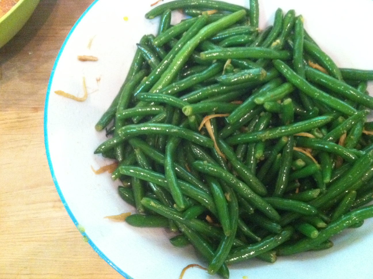 butter green beans with ginger butter chef lee chef lee green beans ...