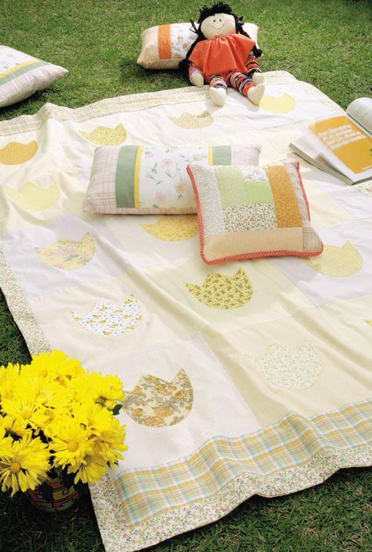 Fazer Artesanato Frases ~ Artesanato em Geral Passo a passo de colcha florida feita com patchwork