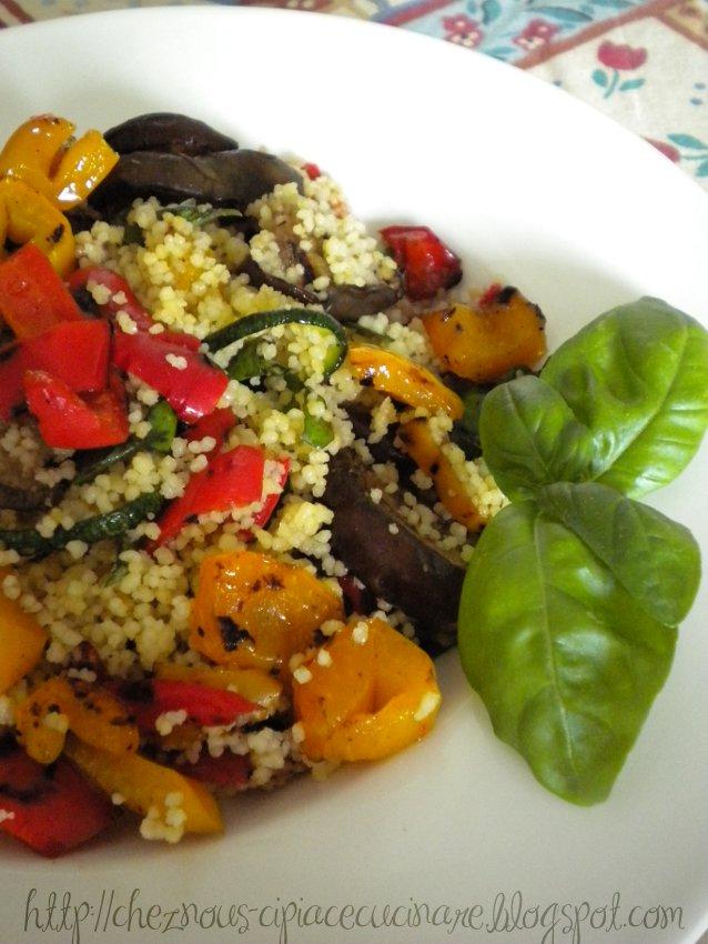 A casa nostra ci piace cucinare cous cous freddo con verdure grigliate piatto vegetariano - Ci piace cucinare ...