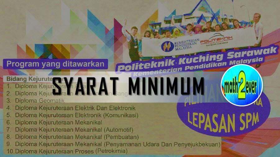 Syarat Minimum Kemasukan Ke Politeknik Malaysia Math2Ever