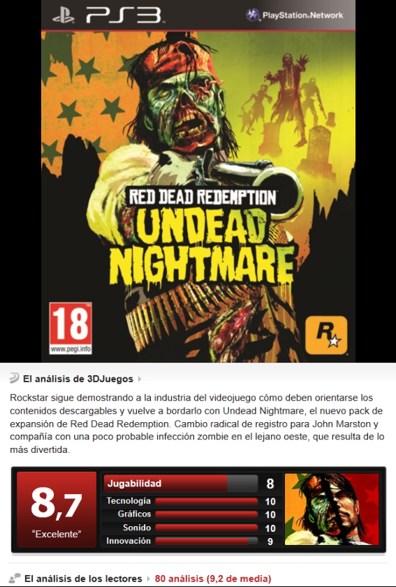 Red Dead Redemption: Undead Nightmare [PS3][ENG][Sub ESP][3.55]
