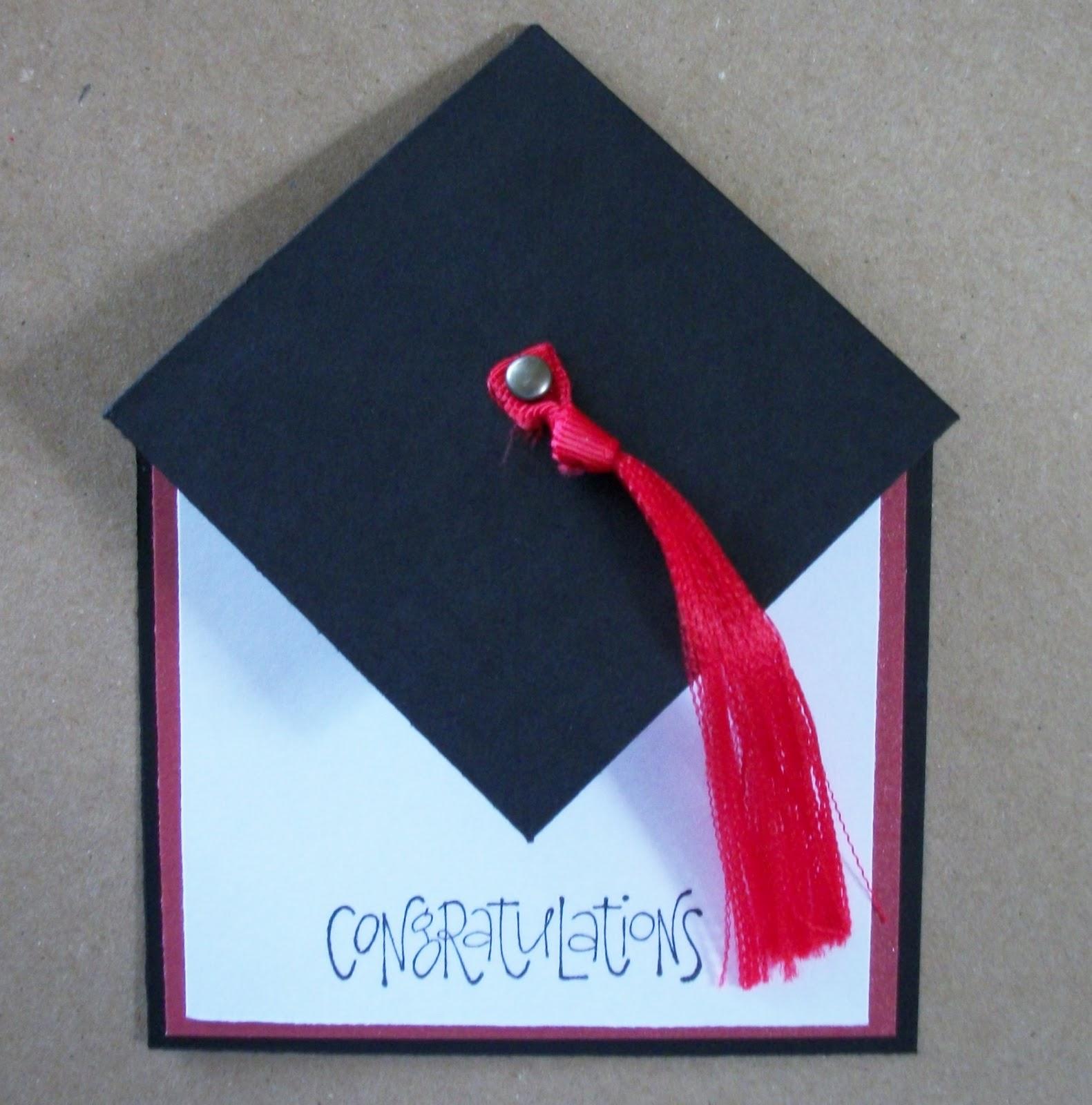 peace love joy and paper graduation hat card