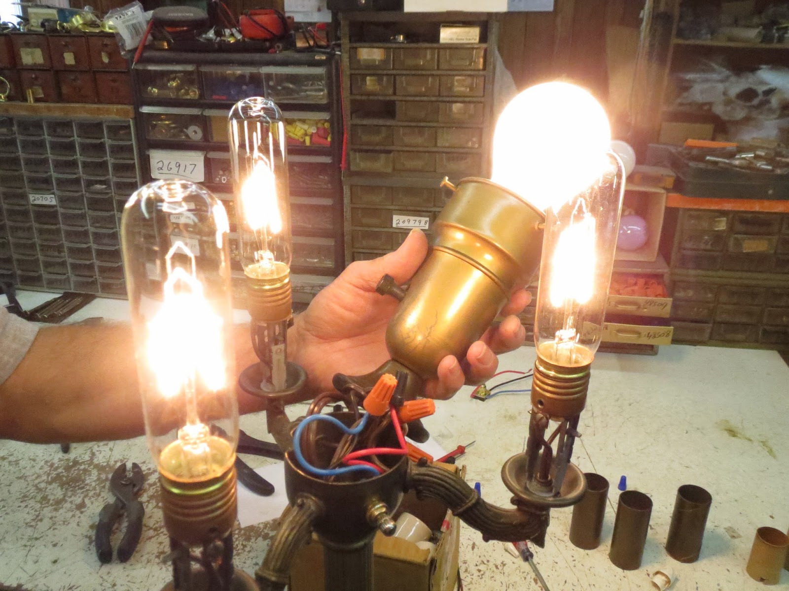 Lamp parts and repair lamp doctor broken antique brass knowing all the wiring is correct and working the cluster is closed greentooth Images