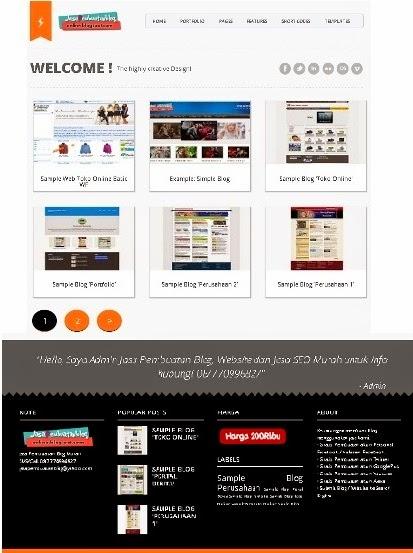 contoh blog portofolio