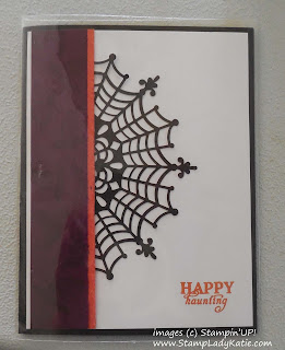 Halloween card made with Stampin'UP!'s Spider Web Doilies