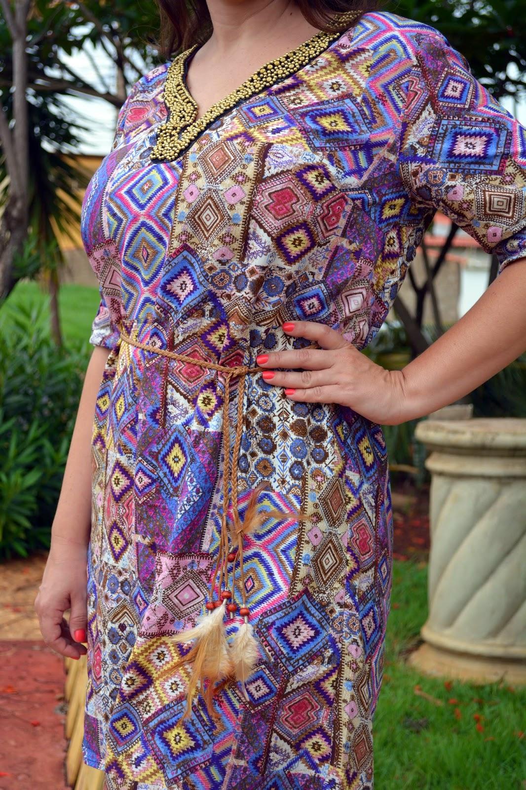 vestido estampado, étnico, blog camila andrade, blog de moda de ribeirão preto, fashion blogger, fashion blogger em ribeirão preto, lalilu modas, lojas do centro de ribeirão preto, look do dia