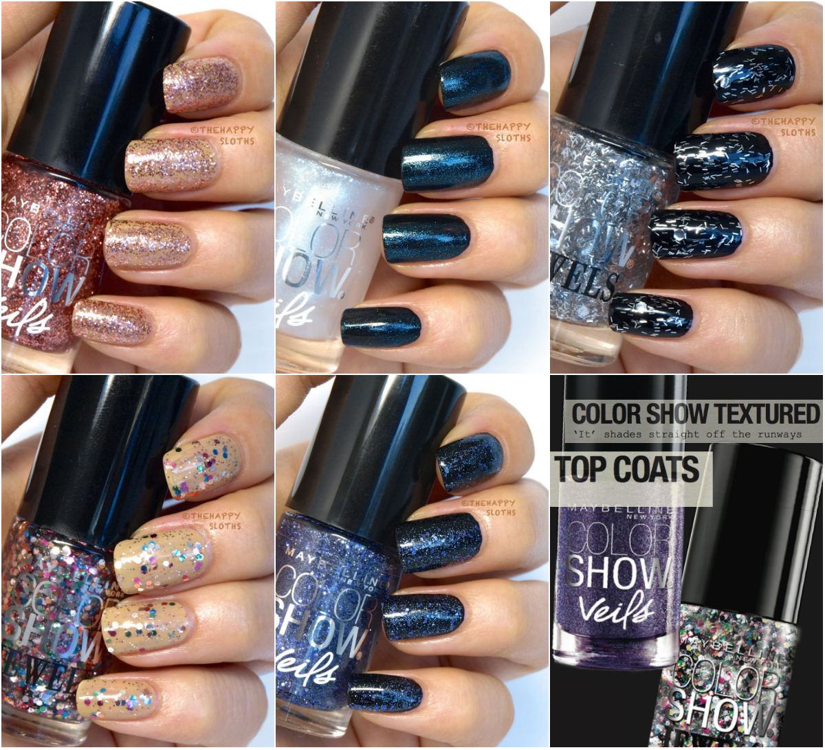 Maybelline Color Show Veils & Jewels Nail Polish: Review and Swatches