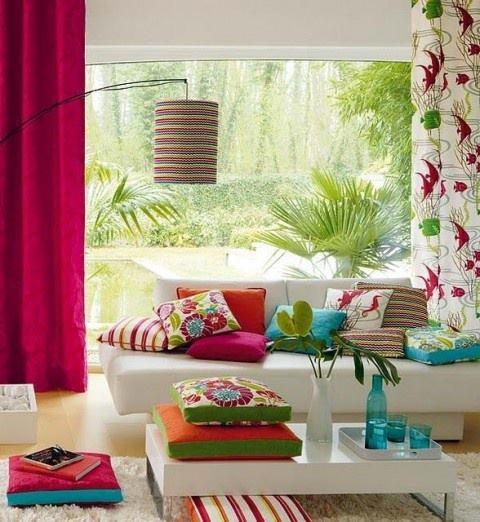 Decoracao De Sala Lilas ~ Construindo Minha Casa Clean Colorido na Decoração!!! Aprenda mais