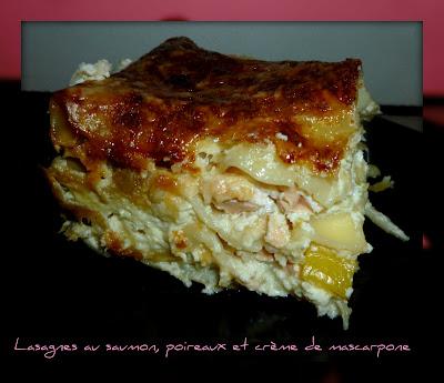 image Lasagnes au saumon, poireaux et crème de mascarpone