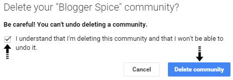 delete community