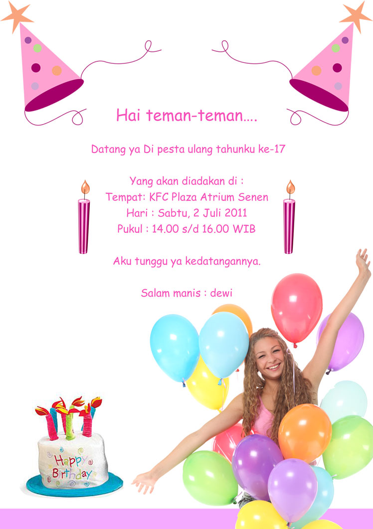 ulang tahun pink kartu ulang tahun psd kartu ulang tahun bolak balik ...