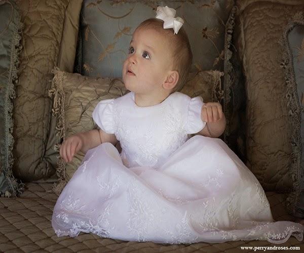 Robe de baptême longue bébé fille mimi