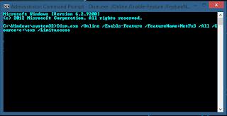 Dism.exe /Online /Enable-Feature /FeatureName:NetFx3 /All /Source:c:\sxs /Limitacces