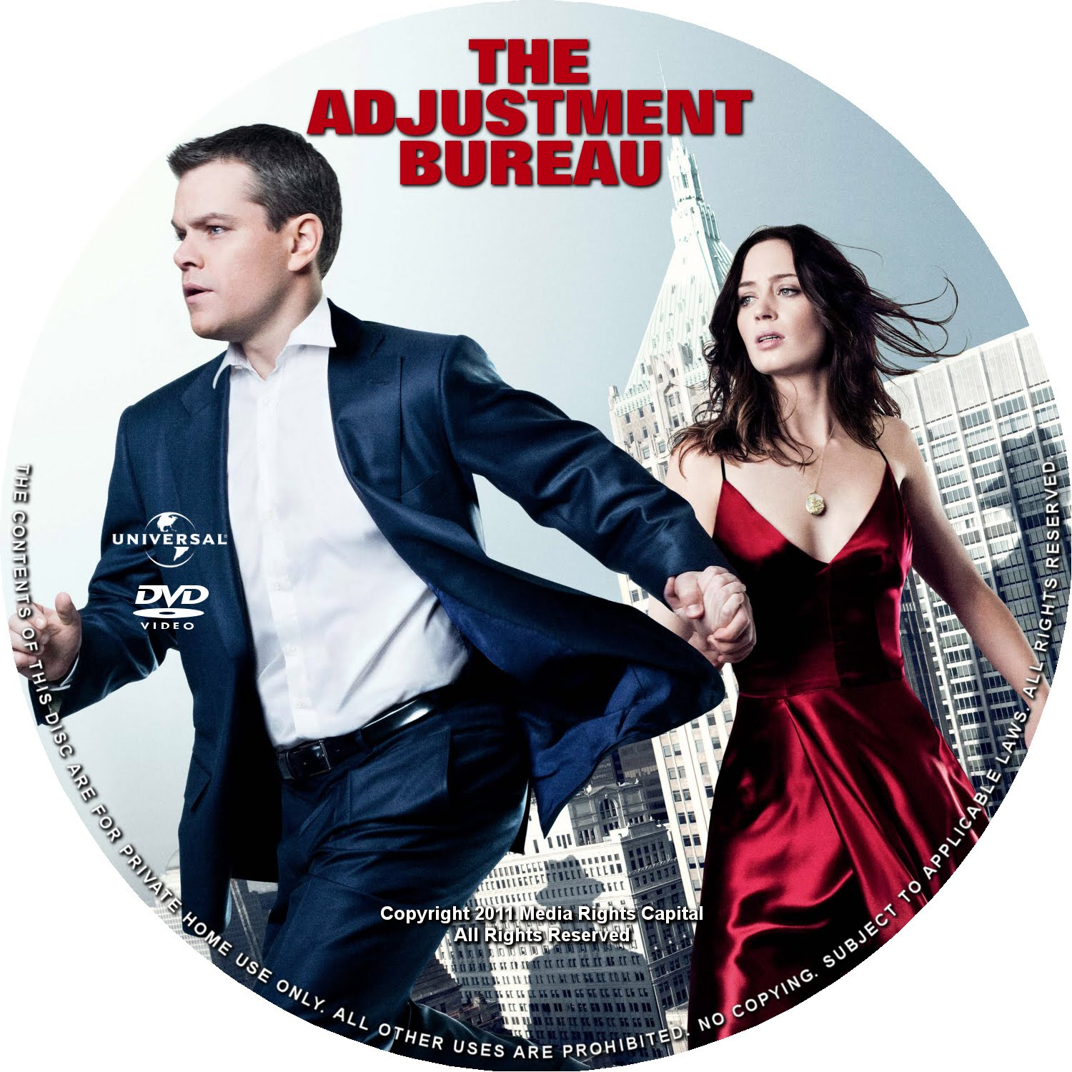 dvd covers and labels the adjustment bureau. Black Bedroom Furniture Sets. Home Design Ideas