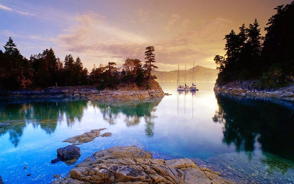 nature-harbor-lake-water-trees-rocks-hd