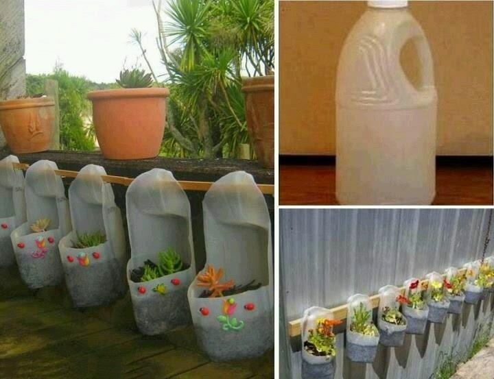 ingenio triana: como construir maceteros con botellas recicladas y