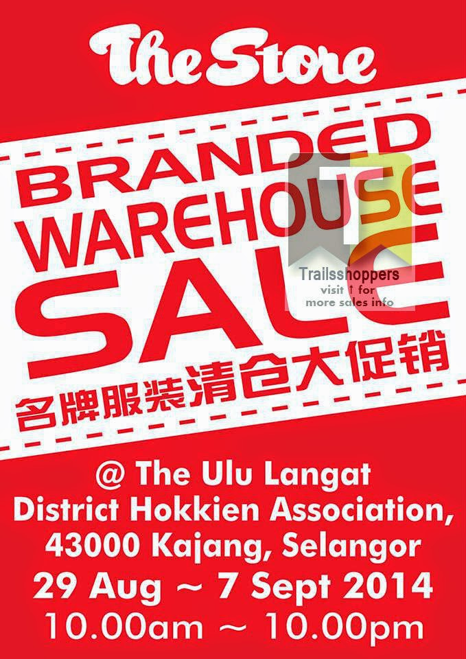 The Store Malaysia Branded Warehouse Sale