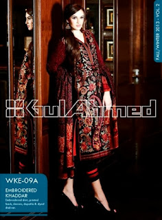 Gul Ahmed Embroidered Khaddar Collection