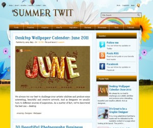 Summer Twit blogger template